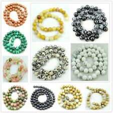 """4MM Natural Round smooth Mixed agate Jewelry Making loose GEM beads strand 15"""""""