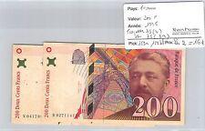 2 BILLETS FRANCE - 200 FRANCS - 1996