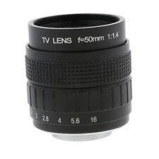 """50mm 1/2 """"f / 1,4 c mount cctv obiettivo compatto compatto per sony olympus"""