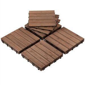 Wood Flooring Decking Tiles Patio Pavers Interlocking Outdoor Indoor 11pcs Used