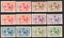 1907 Spain Cinderella Expo Poster Stamp Lot 2 Set Color Varieties Yvert 236-241*