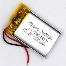 3.7 V 250mAh 502030 LiPolymer Rechargeable Battery Liion Li-Po Cell for GPS MP3
