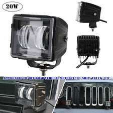 20W LED Spot Light X DRL Turn Signal Front Bumper Light Waterproof Off-road Jeep