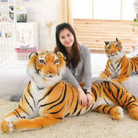 Tiger Plush Animal Realistic Big Cat Orange Bengal Soft Stuffed Toy Pillow Toys