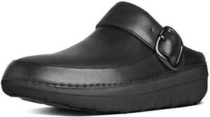 New Womens Fitflop Gogh Pro Superlight Leather Moccasins Clogs UK 3-9 Black