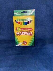 Crayola Classic Fine Line Markers Assorted Colors 10 per pack