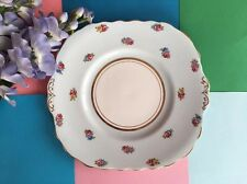 Vintage Colclough Bone China Duck Egg Blue & Roses Tea Set Scalloped Cake Plate