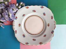 Vintage Colclough Bone China Duck Egg Blue & Roses Tea Set Scalloped Cake Plate