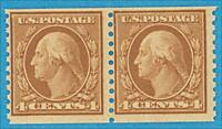 UNITED STATES 495 - MINT NEVER HINGED PAIR ** OG VERY FINE NO FAULTS !
