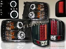 07-13 CHEVY SILVERADO CCFL DUAL HALO PROJECTOR HEADLIGHTS LED & LED TAIL LIGHTS