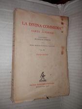 LA DIVINA COMMEDIA Vol 3 PARADISO Dante Alighieri Porena Zanichelli 1956 libro