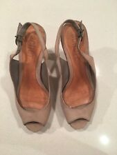 SCHUTZ  BEIGE SUEDE  STILLETO HEELED PLATFORMS SZ 36