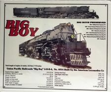 "UNION PACIFIC BIG BOY TIN SIGN // 10"" X 12"" Railroad Tin Sign Wall Art"
