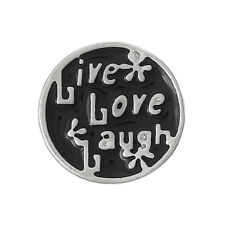 """floating charm Cabochon 12mm """"live love laugh"""" Einleger Emaille"""