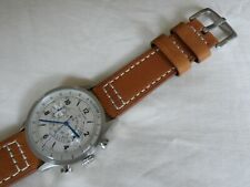 Tan Leather Watch Strap for Dan Henry 1939 Watch 22 mm with Quick Release Pins