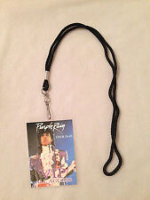 PRINCE PURPLE RAIN TOUR '84-'85 VIP PASS AND LANYARD! BACKSTAGE ALL ACCESS RARE!
