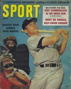 August 1960 Sport Magazine - Mickey Mantle New York Yankees HOF