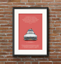 Ghostbusters, Ecto 1, Horror, Bill Murray, Cadillac, Comedy, Movie Art, A3 Print