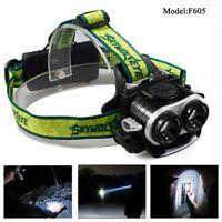 Zoom Headlight Torch Flashlight 18650 USB Rechargeable Fishing Headlamp Lights