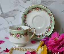 VTG Paragon Teacup ROSALEA Roses English Bone China Tea Cup Saucer Set
