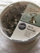 Wilton 20 Count Favor Kit Bell Heart Silver Color Place Card Holders