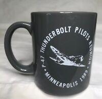 vintage Coffee Mug Military Aircraft P-47 Thunderbolt Reuniuon Minneapolis 1989