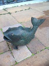 Brass baron swimming fish fountain/pond/garden  (L)