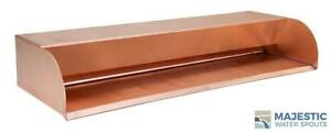 """Picard 24"""" Cascading Scupper for Pool/Spa or Water Fountain in Brushed Copper"""