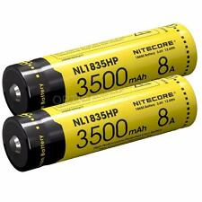 2x Nitecore NL1835HP 3500mAh Protected 18650 Rechargeable Battery TM28 Concept1