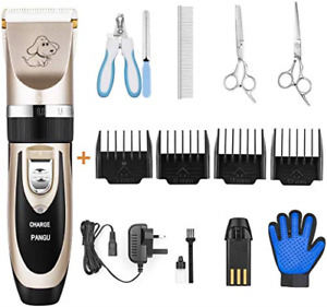 PANGU Dog Clippers Professional Pet Grooming Kit Low Noise, Rechargeable Pet Dog