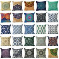 Cotton Cover Home Linen Pillow 18''Geometric Cushion Totem Decor Throw Case Sofa