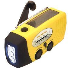 SolaDyne #7410 Solar Powered Wind Up Emergency Radio & Flashlight Combo