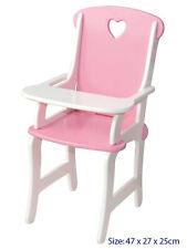 NEW Fun Factory Wooden Pink Dolls High Chair Highchair