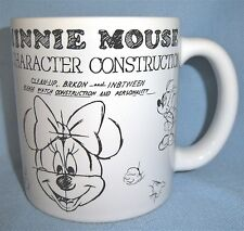 DISNEY PARKS Minnie Mouse Character Construction White Coffee or Tea Mug/Cup