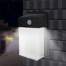 Solar Power Cuboid Motion Sensor Wall Lamp Waterproof Outdoor Garden Path Light