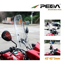 uk Universal Motorcycle Windshield Windscreen Scooter Wind Deflector PC 3mm