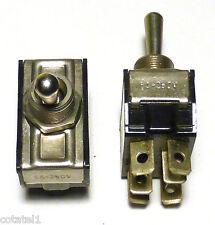 2 interrupteurs inverseurs bipolaires 6A 2RT à position arrêt central - NOS