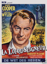 Friendly persuasion Gary Cooper vintage movie poster