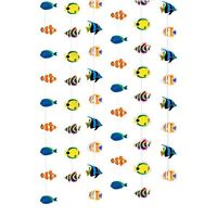 Pack of 6 Tropical Fish String Decorations - 2.1m - Exotic Under The Sea Party