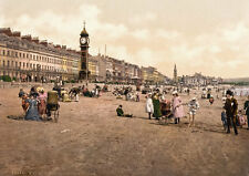 "PS18 Vintage 1890's Photochrom Photo - Clock Tower Weymouth - Print A3 17""x12"""