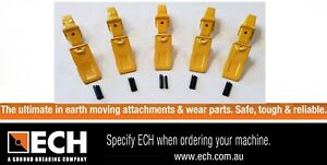 ECH 3-6TL Heavy Duty Bucket Teeth & Adapter For 3-6 Ton Excavator Pack of 5
