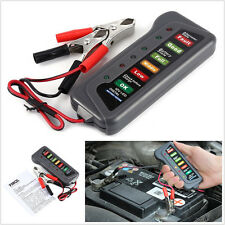 6LED Display Check Test 12V Digital Battery Alternator Tester For Car Motorcycle