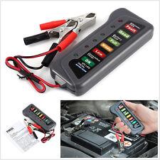 6LED afficher essai de contrôle numérique 12V batterie alternateur testeur pour voiture moto