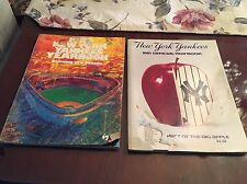NEW YORK YANKEES 1980 AND 1981 YEARBOOKS