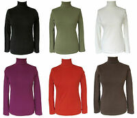 SIMPLY BE Cotton Jersey Polo Roll Turtle Neck Top Size 10 Magenta