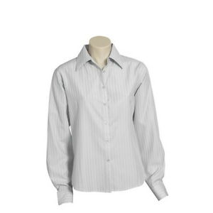 Qty 3 - Women's Business Shirts Silver/Grey Long Sleeve - LB-2630
