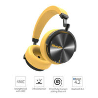 Bluedio T5S Bluetooth V4.2 Headphones Wireless Noise Cancelling Headsets Yellow