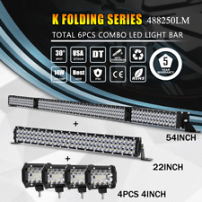 """54Inch 3150W LED Light Bar Combo + 22"""" +4"""" CREE PODS OFFROAD SUV 4WD Ford 52/20"""""""