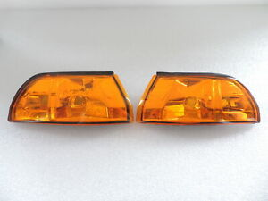 JDM Amber Front Corner Lights For 1990 91 92 1993 Acura Integra RS/GS/LS US Spec