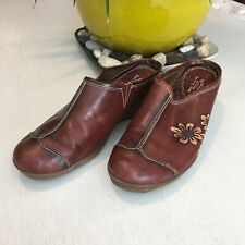 Spring Step Shoes Adrina Brown US 10 / EURO 40 Clogs / Wedge Leather Uppers